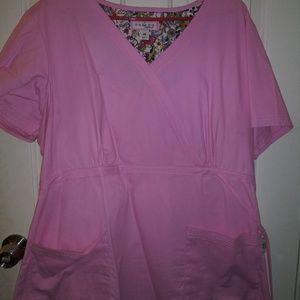 KOI womens pink scrub top. Size 2X